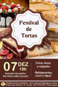 Festival de Tortas Doces e Salgadas dia 07/12. Participe!