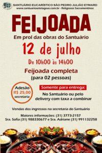 Feijoada no próximo dia 12/07 em prol das obras do Santuário – somente para entrega