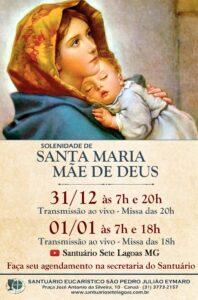 Horários das Celebrações de Ano Novo no Santuário Eucarístico