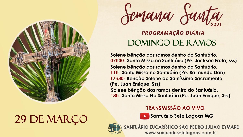 Solenidade de Ramos será celebrada neste domingo. Veja os horários das Celebrações!.